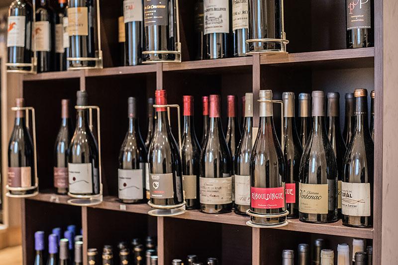 Bouteilles proposées au Restaurant-Pizzeria-Bar à vins Le Patio à Landivisiau