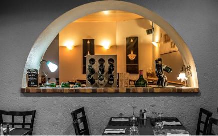 Voûte du restaurant-Pizzeria-Bar à vins Le Patio à Landivisiau (entre Morlaix et Brest)